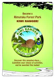 Rimutaka Booklet Cover